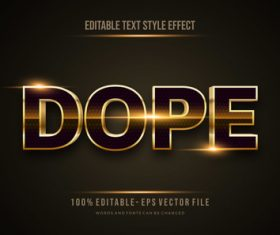 Dope editable font 3d vector