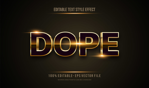Dope editable font 3d vector