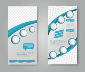 Dot model business advertising template vector