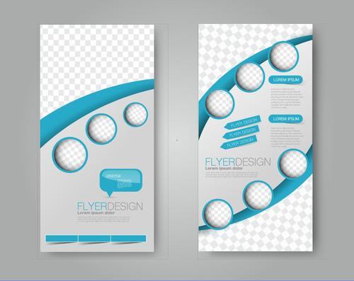 Dot model business advertising template vector