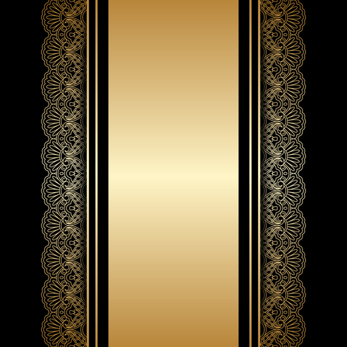 Double lace decorative pattern vector