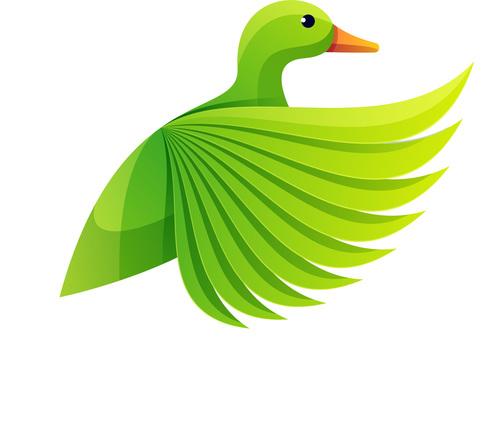 Duck gradient logo vector