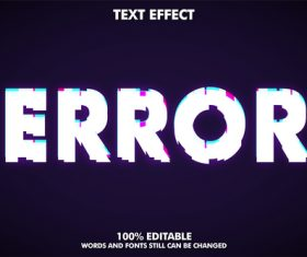 ERROR 3d editable text style effect vector