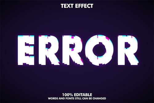 ERROR 3d editable text style effect vector