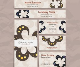 Elegant company business card vector