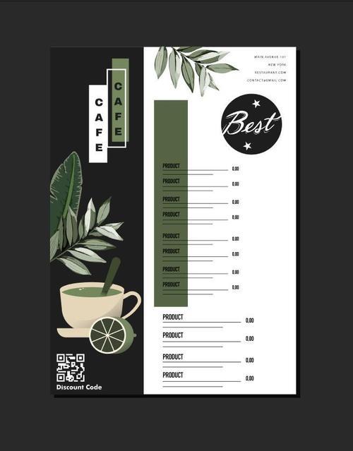 Elegant restaurant menu vector