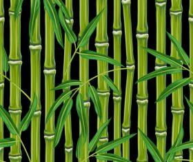 Emerald bamboo watercolor painting vector