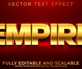Empire 3d editable text style effect vector