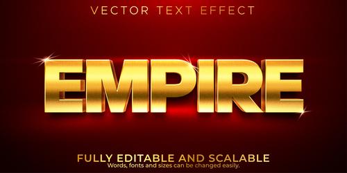 Empire 3d editable text style effect vector