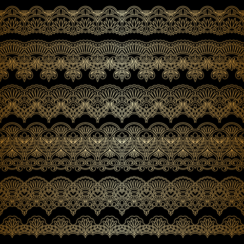 Engraved artistic lace decorative pattern vector