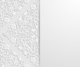 Engraved flower art ornament vector