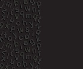 Engraving letters on black background vector