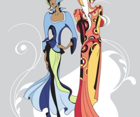 Ethnic fashion style illustration vector