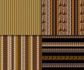 Ethnic style weaving seamless patterns vector