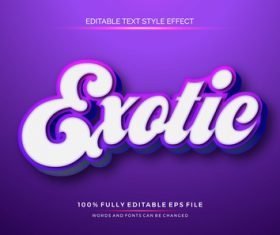 Exqtie editable font 3d vector