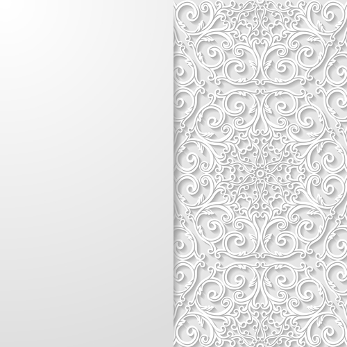 Exquisite carved art ornament vector