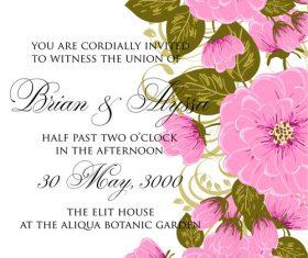 Exquisite wedding invitation card vector