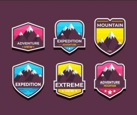 Extreme adventure symbols vector set