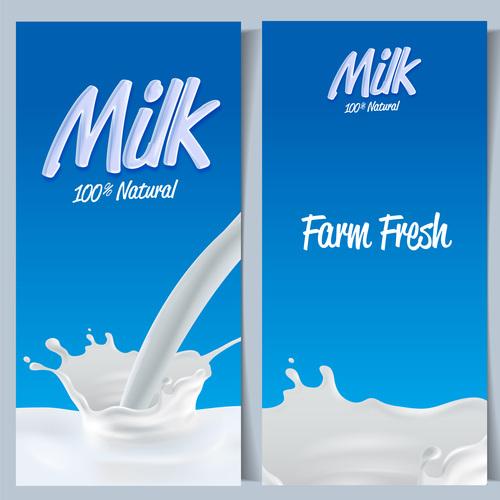 Farm fresh milk vector