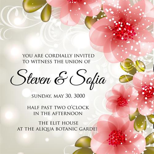 Fashion wedding invitation card vector