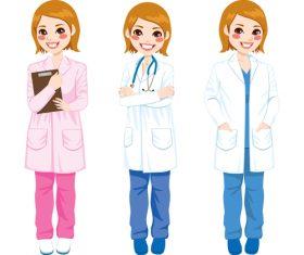 Female doctor cartoon character vector