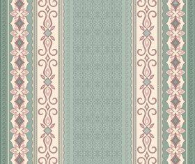 Filigree beige seamless border on green background vector