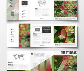 Flower background business brochure template vector