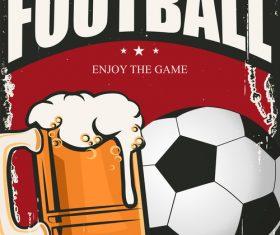Football enjoy the game vector