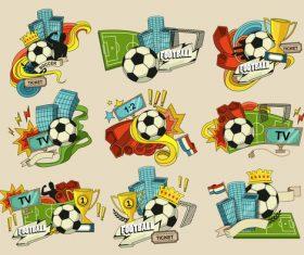 Football match broadcast cartoon illustration vector
