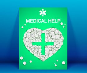 For your health medicine advertisement vector