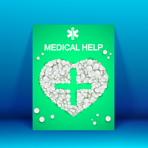 For your health medicine advertisement vector