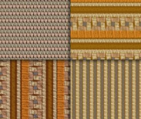 Four color woven seamless patterns vector