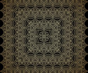 Frame lace ornament pattern vector