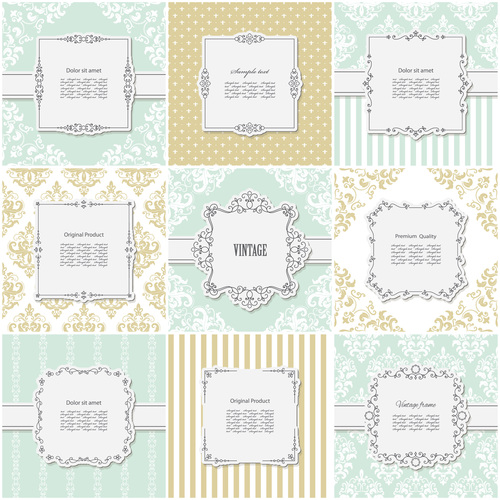 Frames and backgrounds vector