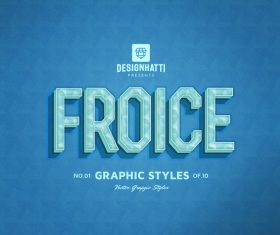 Froice graphic styles text styles vector