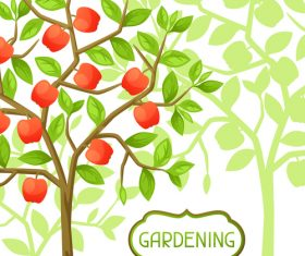 Fruit tree illustration vector