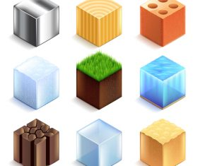 Games icons realistic vector