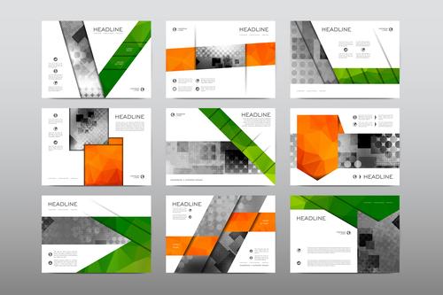Geometric business flyer vector