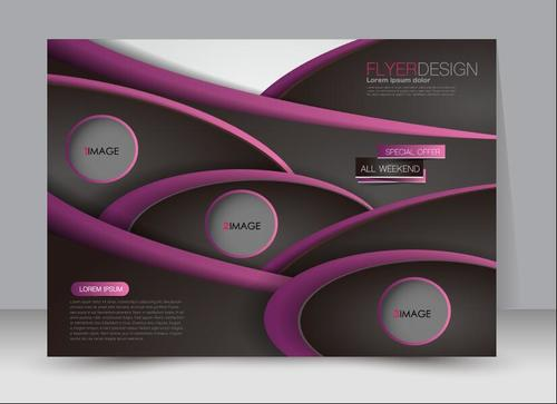 Geometric colorful style business advertising template vector