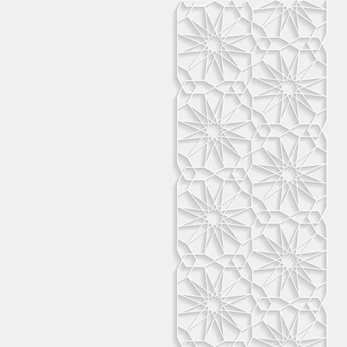 Geometric engraving art ornament vector