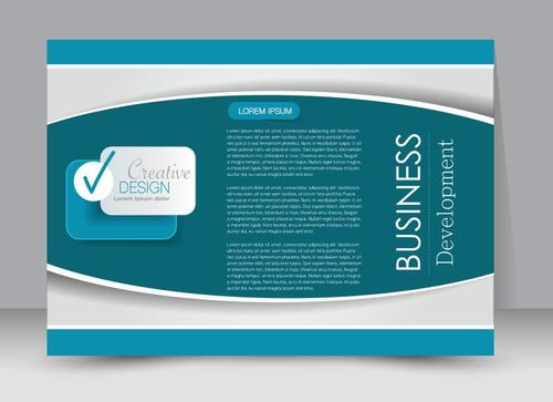Geometric graphic business advertising template vector