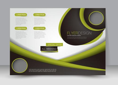 Geometric ordinary business advertising template vector