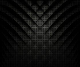 Geometric squares black background vector