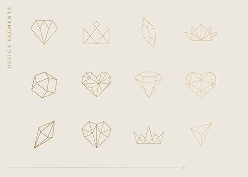 Geometrical shapes set