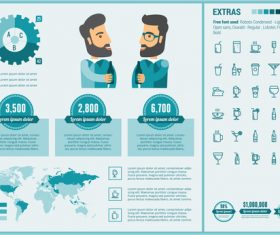 Global catering industry infographic elements vector