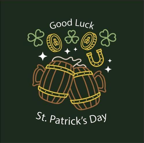 Good luck st patricks label vector