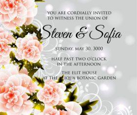Gorgeous wedding invitation card vector