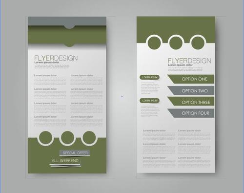 Grass green concise business advertising template vector