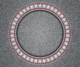 Gray denim texture vector