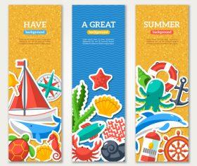 Great summer banner vector